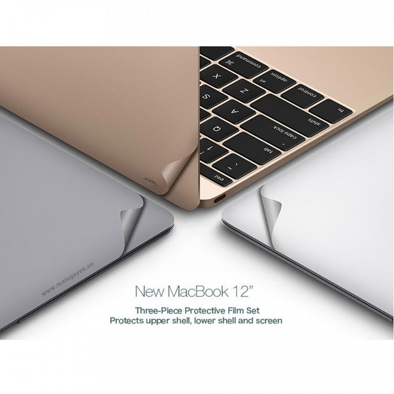 Miếng dán bảo vệ JCPal MacGuard (3 in 1) cho New MacBook 12 inches 5