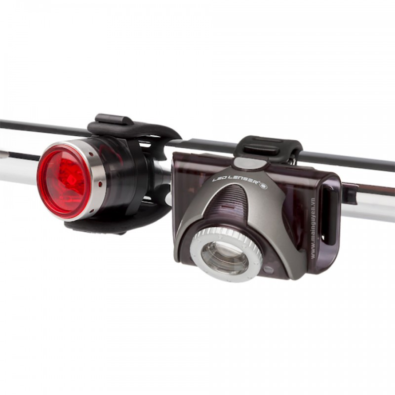 Đèn xe đạp Led Lenser SEO Bike B5R front + B2R Red rear 2