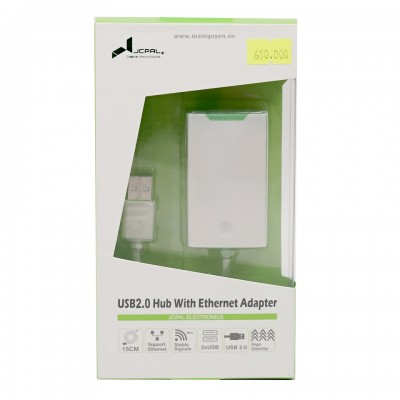 JCPAL USB 2.0 Hub with Enthernet