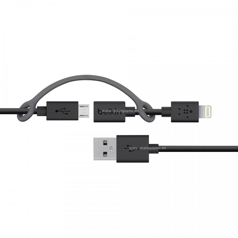 Cáp Belkin Micro USB-B to Lightning Adapter Sync and Charge Cable 0.9m F8J080bt03
