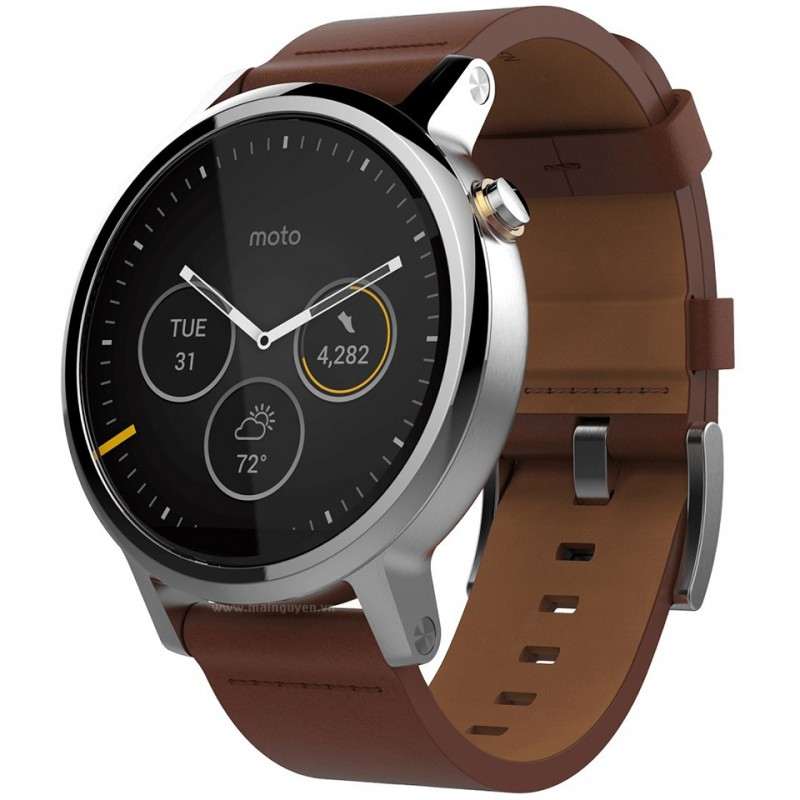 Motorola Moto 360 46mm Leather Band (2nd gen) 1