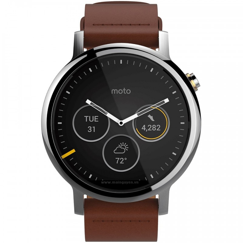 Motorola Moto 360 46mm Leather Band (2nd gen) 2