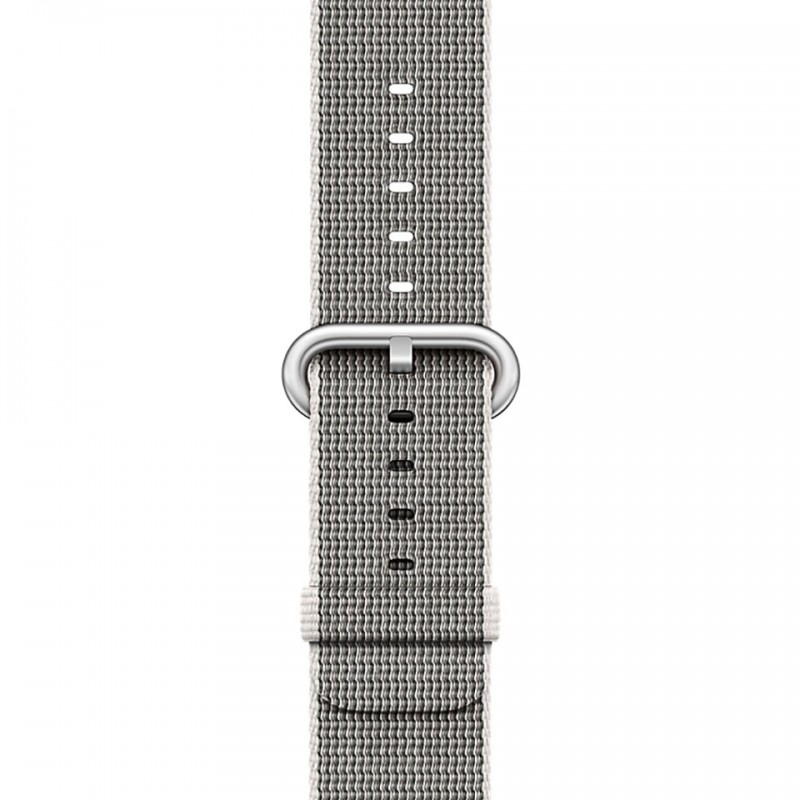 Apple Watch Series 2 38mm Silver Aluminium Case with Pearl Woven Nylon Band MNNX2VN/A 3