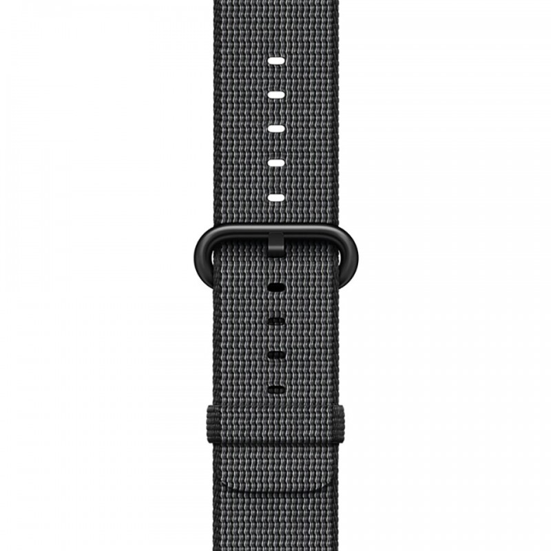 Apple Watch Series 2 42mm Space Grey Aluminium Case with Black Woven Nylon Band MP072VN/A 3