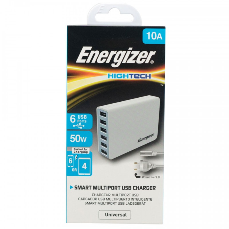 Adapter Energizer HT USB Station 6 Port 50W EU USA6EEUHWH5 1
