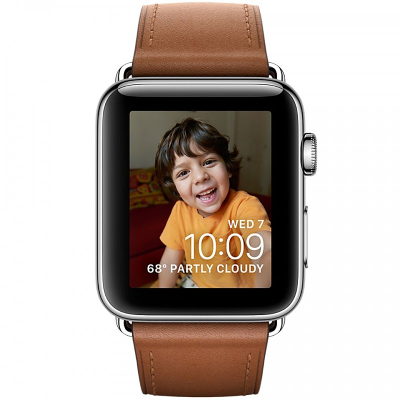 Apple Watch Series 2 42mm Stainless Steel Case with Saddle Brown Classic Buckle MNPV2VN/A 2
