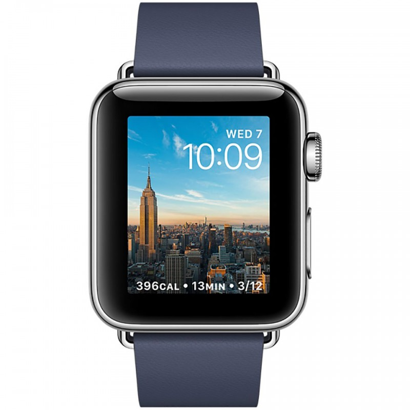 Apple Watch Series 2 38mm Stainless Steel Case with Midnight Blue Modern Buckle - Medium MNP92VN/A 2