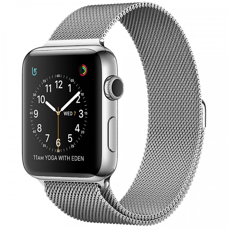 Apple Watch Series 2 42mm Stainless Steel Case with Silver Milanese Loop MNPU2VN/A 1