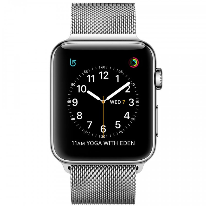 Apple Watch Series 2 42mm Stainless Steel Case with Silver Milanese Loop MNPU2VN/A 2
