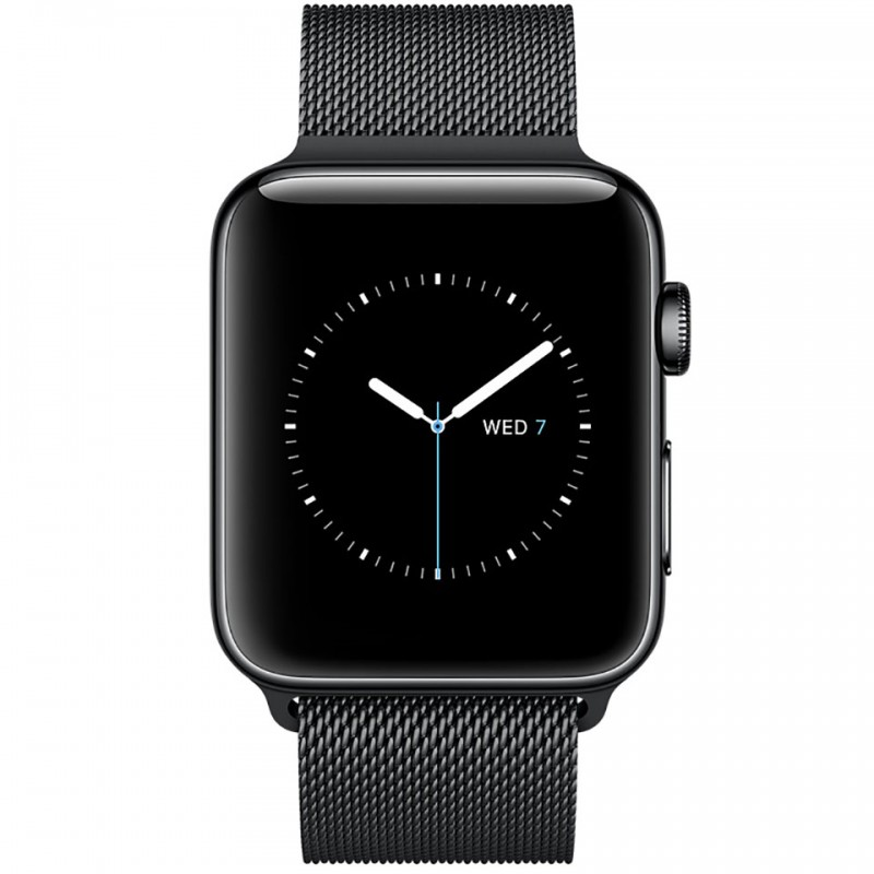 Apple Watch Series 2 38mm Space Black Stainless Steel Case with Space Black Milanese Loop MNPE2VN/A 2
