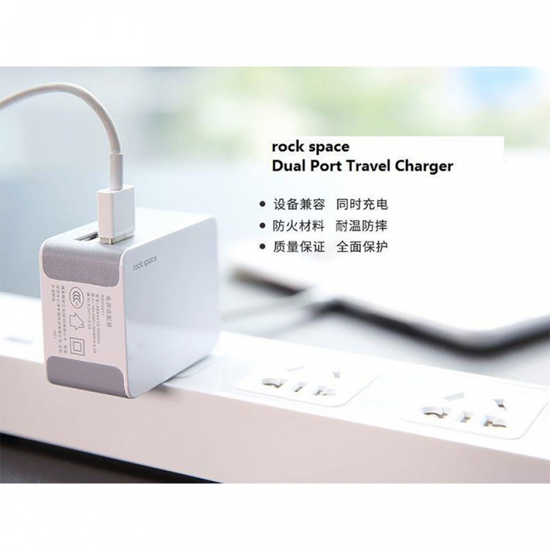 Adapter Rock Space Dual Port Travel Charger RWC0217 4