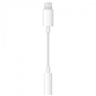 Apple Lightning to 3.5 mm Headphone Jack Adapter (MMX62ZA)