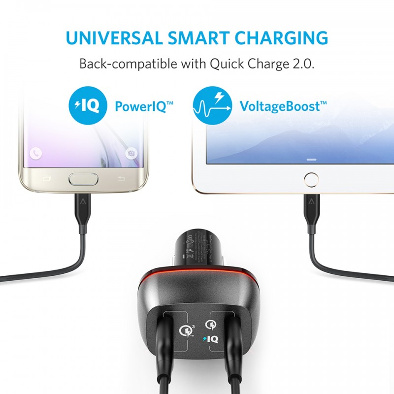 Sạc xe hơi Anker PowerDrive+ 2 with Quick Charge 3.0 A2224 4