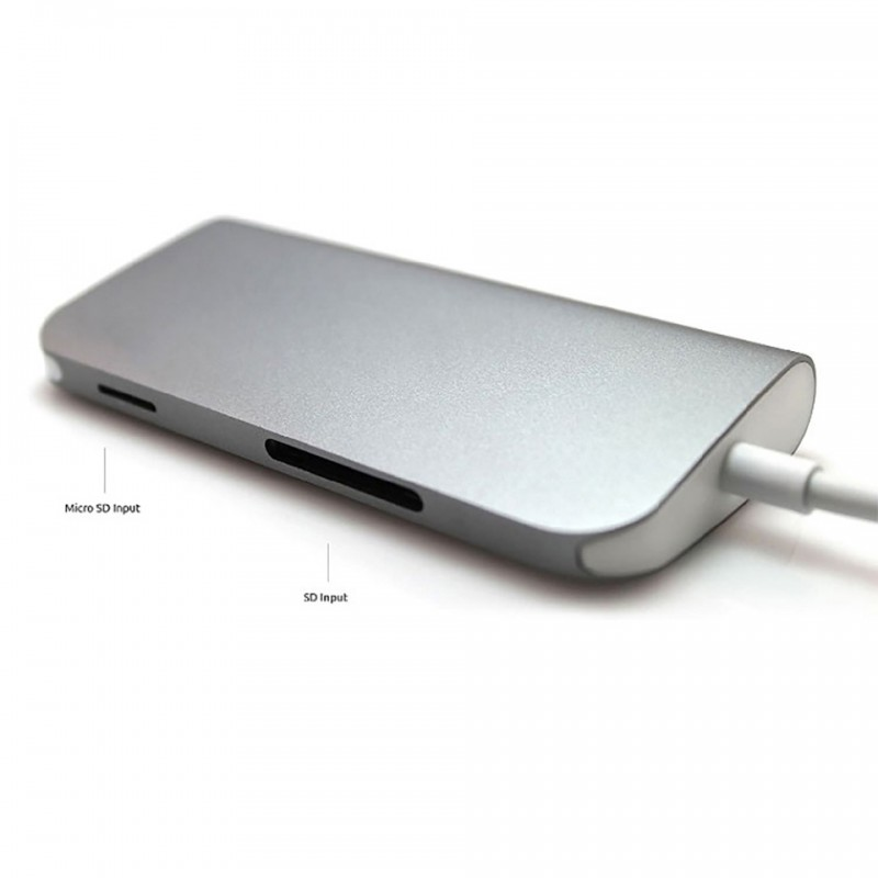 Adapter Le Touch USB-C 8 in 1 type-C Combo Hub  6