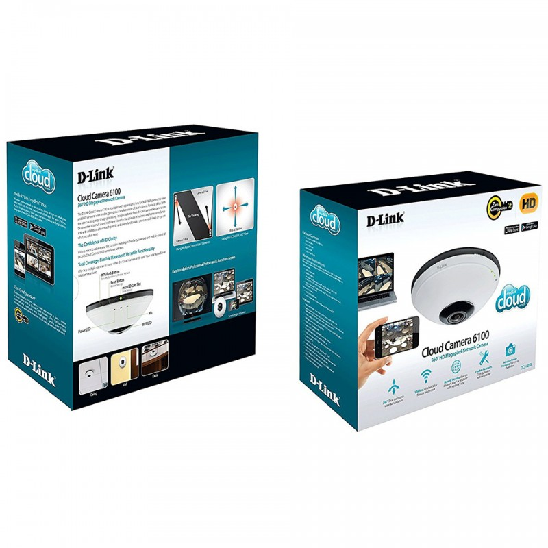 Panoramic Wireless Cloud Camera D-Link DCS-6010L 6