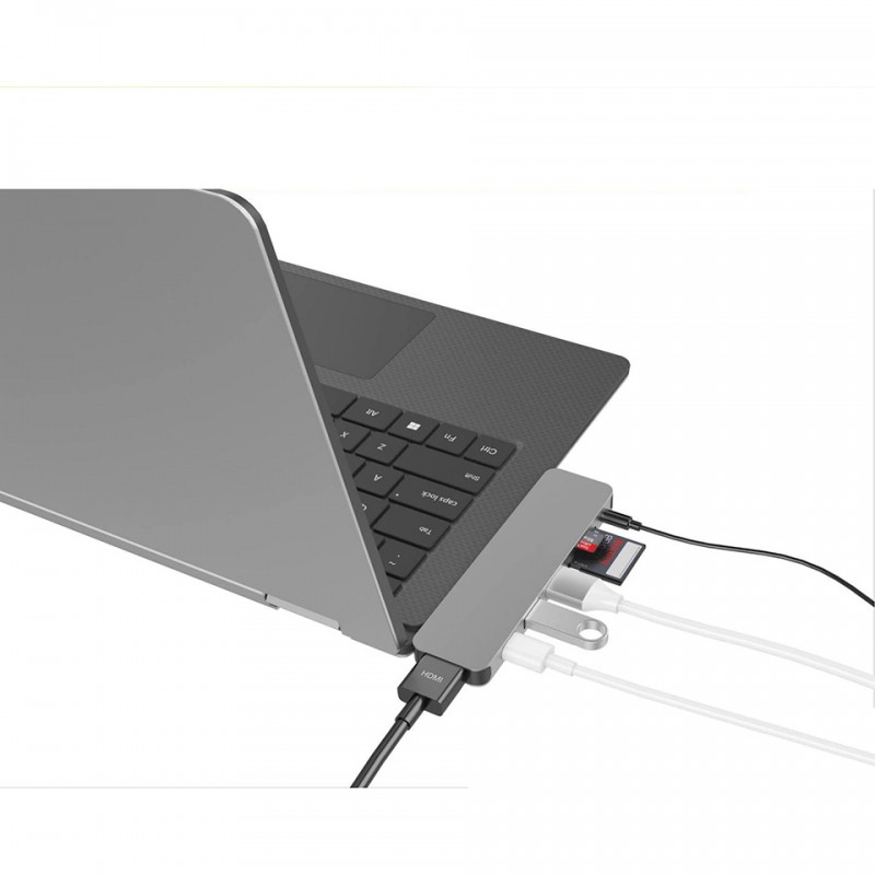 HyperDrive SOLO 7-in-1 USB-C Hub for MacBook, PC GN21 3