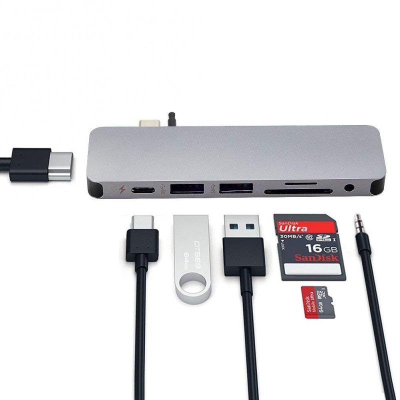 HyperDrive SOLO 7-in-1 USB-C Hub for MacBook, PC GN21 5
