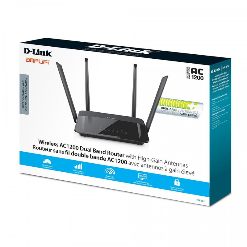 D-Link Amplifi Wireless AC1200 Dual Band Router High-Gain Antennas DIR-822  4
