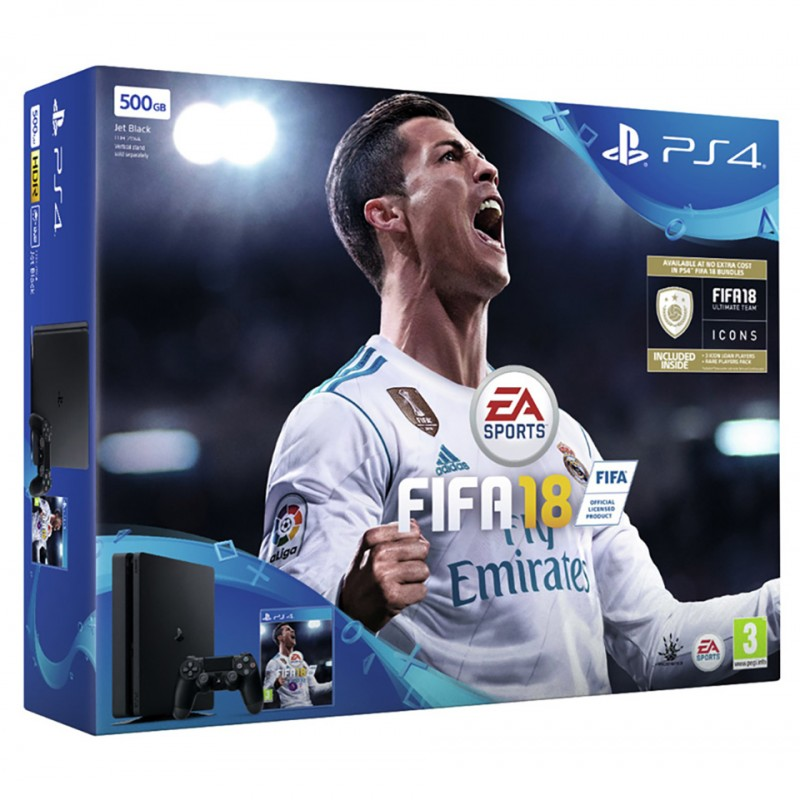 Sony PlayStation 4 Limited Edition 500GB: FiFa18 Bundle (CUH-2106A B01)