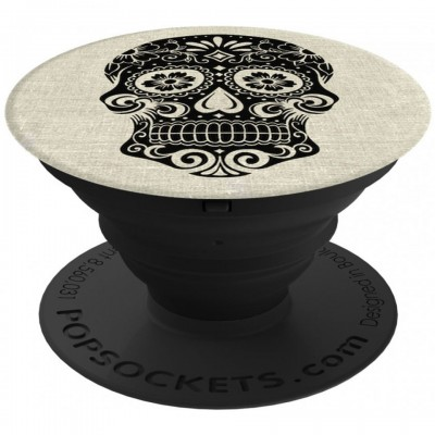 PopSockets Sugarskull on Linen 101689