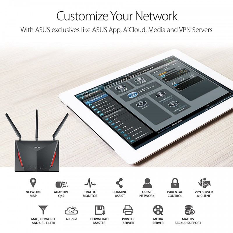 Asus Wireless Router RT-AC86U 6
