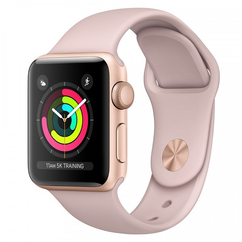 Apple Watch Series 3 38mm Gold Aluminum Case with Pink Sand Sport Band (GPS) MQKW2VN/A 1