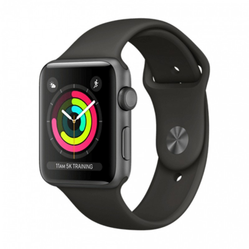 Apple Watch Series 3 38mm Space Gray Aluminum Case with Gray Sport Band (GPS) MR352VN/A 1