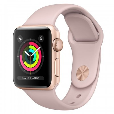 Apple Watch Series 3 38mm Gold Aluminum Case with Pink Sand Sport Band (GPS) MQKW2VN/A