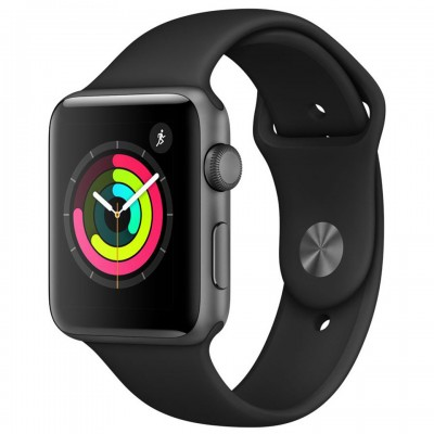 Apple Watch Series 3 42mm Space Gray Aluminum Case with Black Sport Band (GPS) MQL12VN