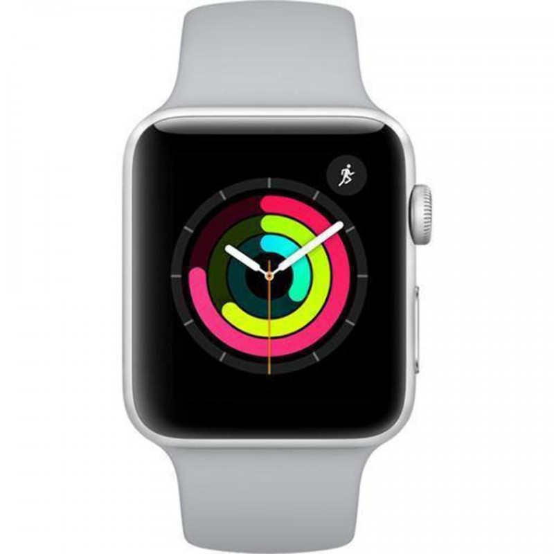Apple Watch Series 3 38mm Silver Aluminum Case with Fog Sport Band (GPS) MQKU2VN/A 2