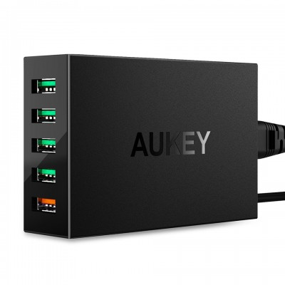 SẠC 5 CỔNG AUKEY PA-T15 QUICK CHARGE 3.0