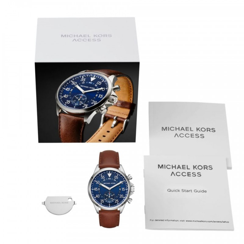 Michael Kors Access Gage Brown Leather Hybrid Smartwatch MKT4006 5