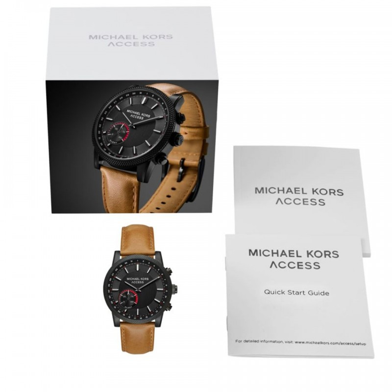 Michael Kors Access Scout Brown Leather Hybrid Smartwatch MKT4026 4