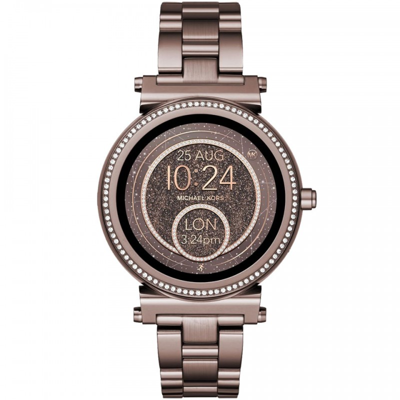 Michael Kors Access Sophie Bronze Pave Crystal Smartwatch MKT5030 1