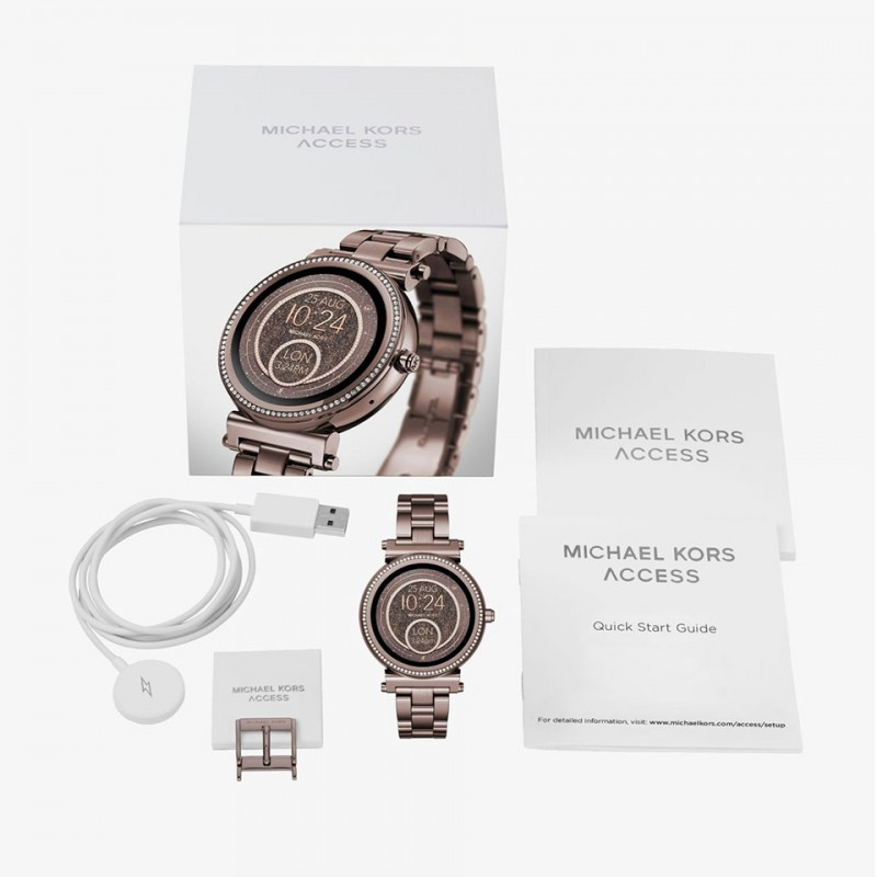 Michael Kors Access Sophie Bronze Pave Crystal Smartwatch MKT5030 5