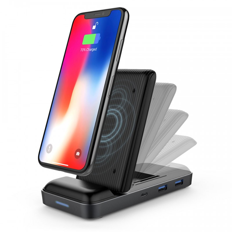 HyperDrive 7.5W Wireless Fast Charger USB-C Hub