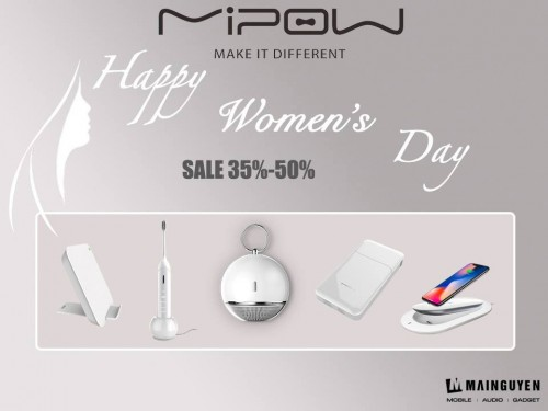 [Up to 50% OFF] Mipow giảm giá loạt sản phẩm 'Happy Women's Day 20/10'