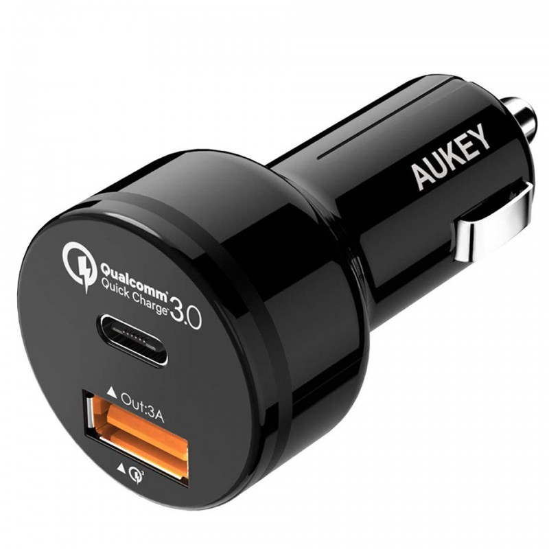 Sạc xe hơi 33W Aukey USB-C Car Charger with Quick Charge 3.0 CC-Y1