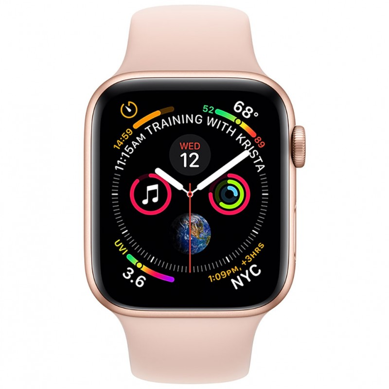 Apple Watch Series 4 44mm Gold Aluminum Case with Pink Sand Sport Band (GPS) MU6F2VN/A 2