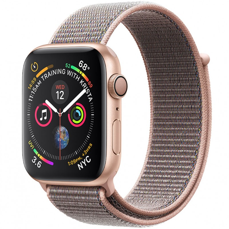 Apple Watch Series 4 40mm Gold Aluminum Case with Pink Sand Sport Loop (GPS) MU692VN/A 1