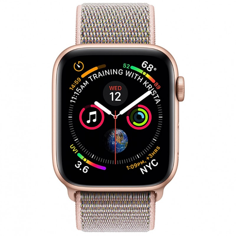 Apple Watch Series 4 44mm Gold Aluminum Case with Pink Sand Sport Loop (GPS) MU6G2VN/A 2