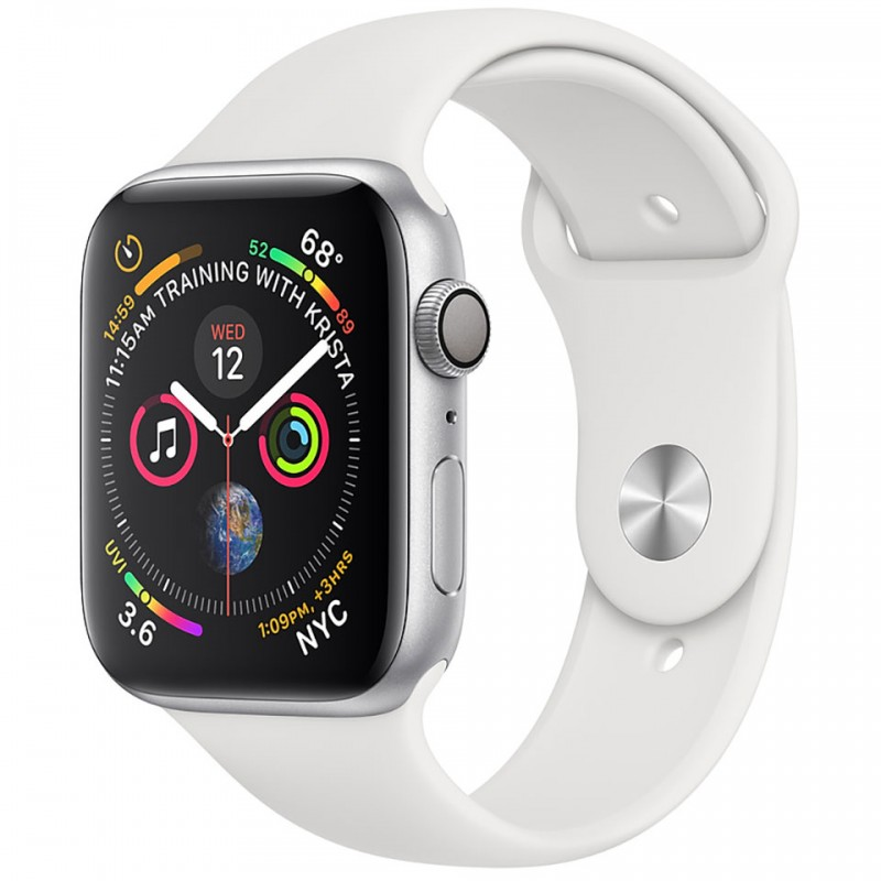 Apple Watch Series 4 40mm Silver Aluminum Case with White Sport Band (GPS) MU642VN/A 1