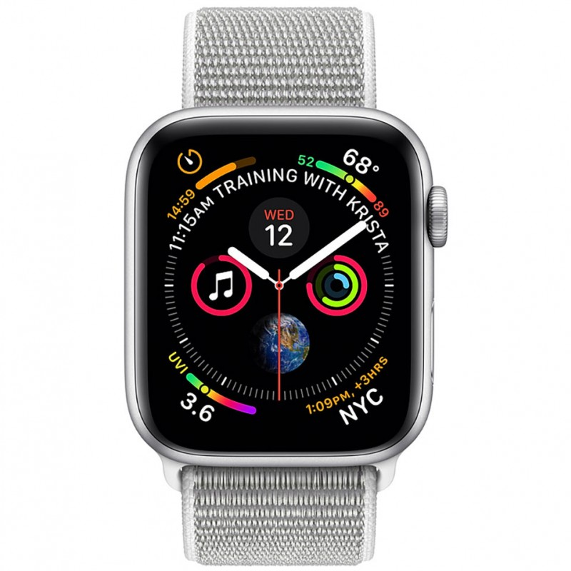 Apple Watch Series 4 44mm Silver Aluminum Case with Seashell Sport Loop (GPS) MU6C2VN/A 2