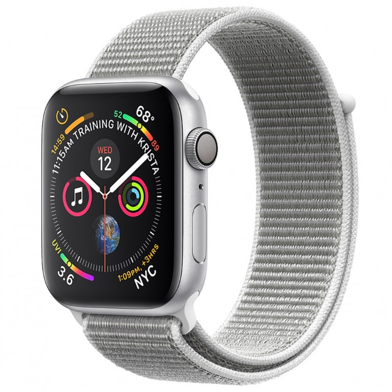 Apple Watch Series 4 44mm Silver Aluminum Case with Seashell Sport Loop (GPS) MU6C2VN/A 1