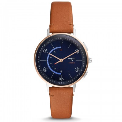 Fossil Hybrid Smartwatch - Q Harper Tan Leather FTW5027