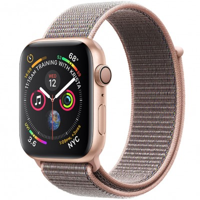 Apple Watch Series 4 44mm Gold Aluminum Case with Pink Sand Sport Loop (GPS) MU6G2VN/A