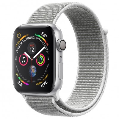 Apple Watch Series 4 44mm Silver Aluminum Case with Seashell Sport Loop (GPS) MU6C2VN/A