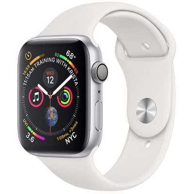 Apple Watch Series 4 44mm Silver Aluminum Case with White Sport Band (GPS) MU6A2VN/A