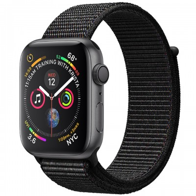 Apple Watch Series 4 40mm Space Gray Aluminum Case with Black Sport Loop (GPS) MU672VN/A