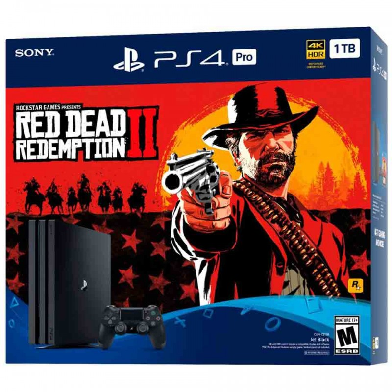 Sony PlayStation 4 Pro Limited Edition 4K 1TB: Red Dead Redemption 2 Bundle (CUH-7106B B01) 3